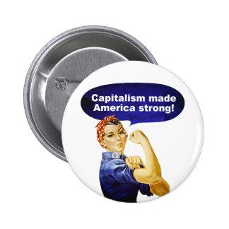 Rosie el botón del Remachador-Capitalismo Pin Redondo De 2 Pulgadas