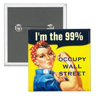 Rosie el botón del remachador OWS Pin Cuadrado