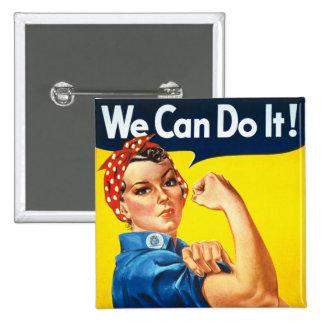 Rosie el botón del remachador pin cuadrado