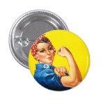 Rosie el botón del remachador pin redondo de 1 pulgada