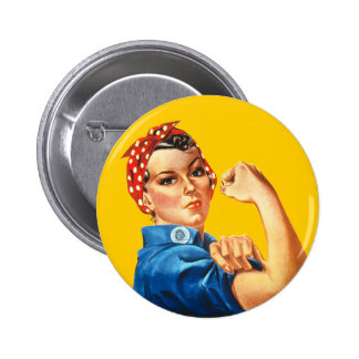 Rosie el botón del remachador pin redondo de 2 pulgadas