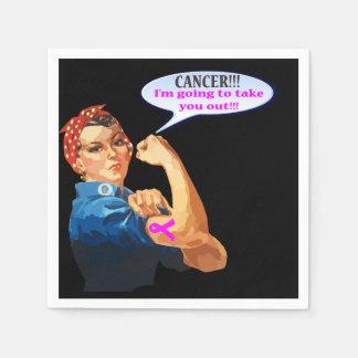 Rosie el diseño de la caridad del cáncer de pecho servilleta desechable
