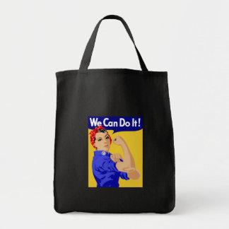 Rosie el diseño gráfico del remachador bolsa tela para la compra