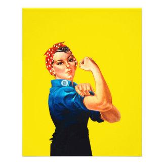 """Rosie el estilo retro del diseño del remachador folleto 4.5"""" x 5.6"""""""
