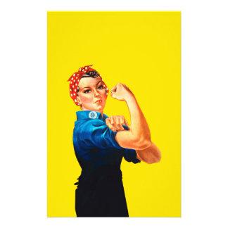 """Rosie el estilo retro del diseño del remachador folleto 5.5"""" x 8.5"""""""
