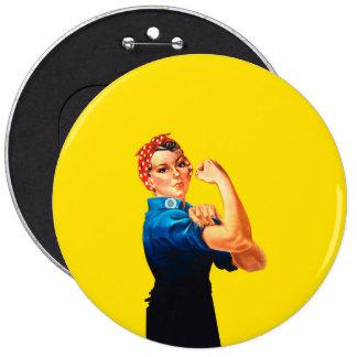 Rosie el estilo retro del remachador pin redondo 15 cm