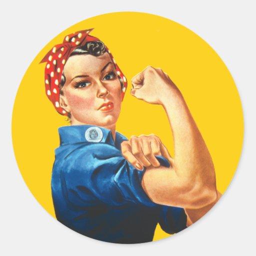 Rosie el pegatina del remachador