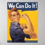 Rosie el poster de la guerra mundial del remachado