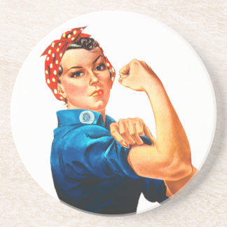 Rosie el poster del remachador WWII Posavasos Diseño