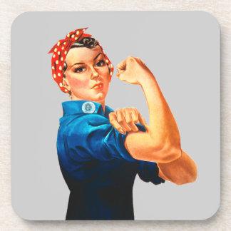 Rosie el poster del remachador WWII Posavasos De Bebida