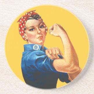 Rosie el práctico de costa del remachador posavasos diseño