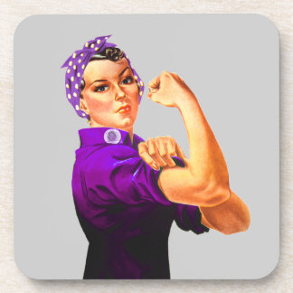 Rosie el remachador - Fibromyalgia púrpura Posavasos