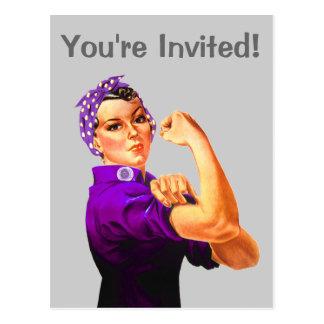 Rosie el remachador - Fibromyalgia púrpura Tarjetas Postales