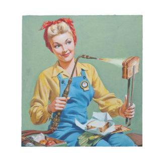 Rosie el remachador hace el queso tostado bloc de notas