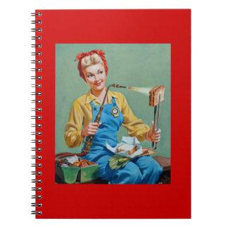 Rosie el remachador hace el queso tostado notebook