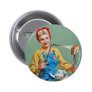 Rosie el remachador hace el queso tostado pin redondo de 2 pulgadas