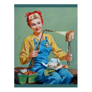 Rosie el remachador hace el queso tostado postales