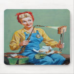 Rosie el remachador hace el queso tostado tapete de ratones