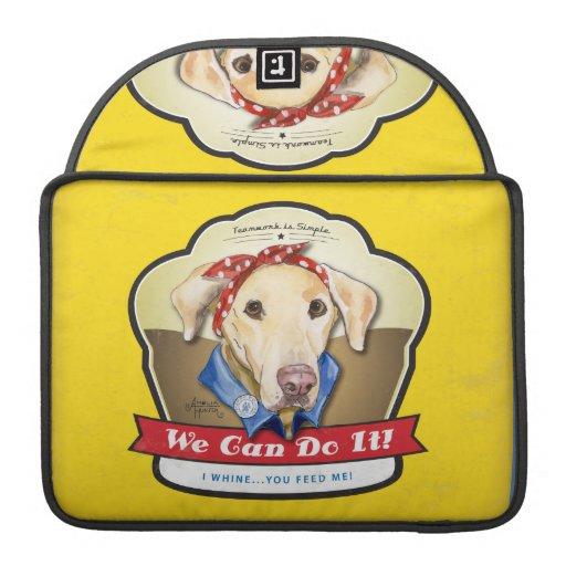 Rosie el remachador Labrador Funda Para Macbook Pro