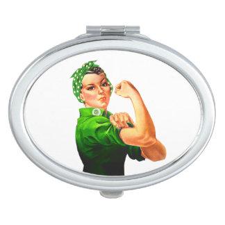 Rosie el remachador - los militares apoyan espejo compacto