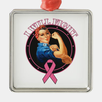 Rosie el remachador lucharé al cáncer de pecho ornamente de reyes