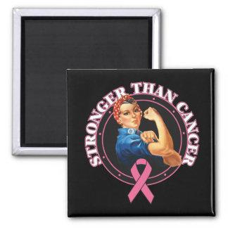 Rosie el remachador más fuerte que cáncer de pecho imán cuadrado