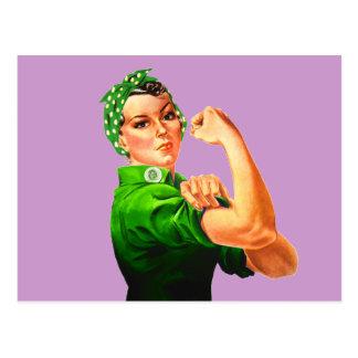 Rosie el remachador - militar verde tarjetas postales