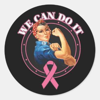 Rosie el remachador podemos hacerlo cáncer de pegatina redonda
