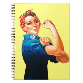 Rosie el remachador - podemos hacerlo icono cultu libros de apuntes con espiral