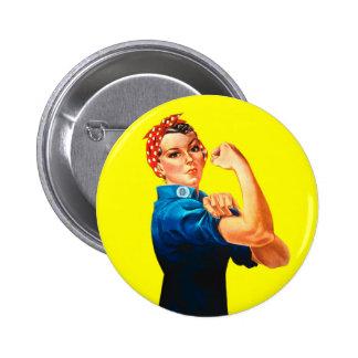 Rosie el remachador - podemos hacerlo, icono cultu pin redondo 5 cm