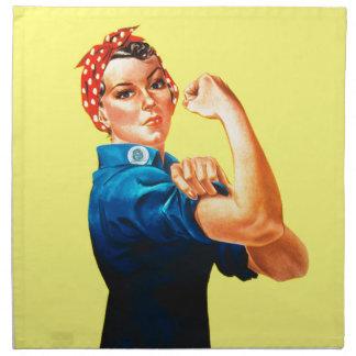 Rosie el remachador - podemos hacerlo icono cultu servilletas de papel