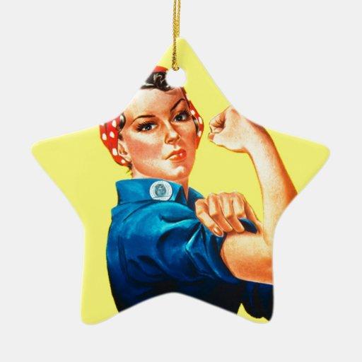 Rosie el remachador - podemos hacerlo, icono adorno de cerámica en forma de estrella