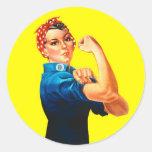 Rosie el remachador - podemos hacerlo, icono pegatinas redondas