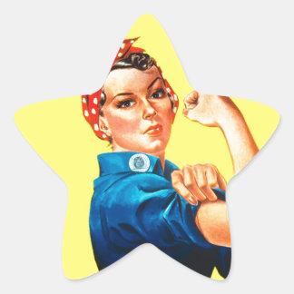 Rosie el remachador - podemos hacerlo, icono pegatina en forma de estrella