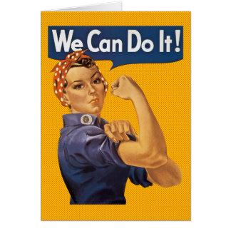 Rosie el remachador podemos hacerlo los lunares tarjeta de felicitación
