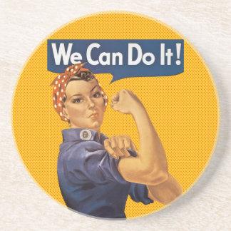 ¡Rosie el remachador podemos hacerlo! Lunares rojo Posavasos Manualidades