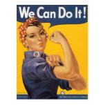 """Rosie el remachador """"podemos hacerlo """" postal"""