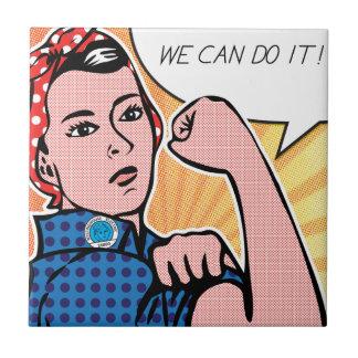¡Rosie el remachador podemos hacerlo! Puntos del a Azulejo Cuadrado Pequeño