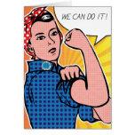 ¡Rosie el remachador podemos hacerlo! Puntos del Tarjeta De Felicitación