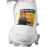 """Rosie el remachador """"podemos hacerlo """" camiseta de perro"""
