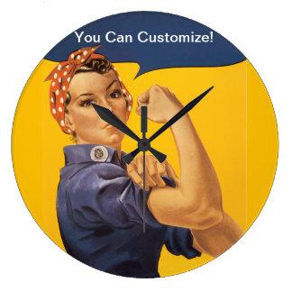 ¡Rosie el remachador podemos hacerlo! Su texto aqu Reloj Redondo Grande