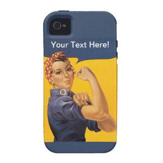 ¡Rosie el remachador podemos hacerlo! Su texto iPhone 4 Funda