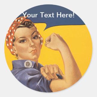 ¡Rosie el remachador podemos hacerlo! Su texto Etiquetas Redondas