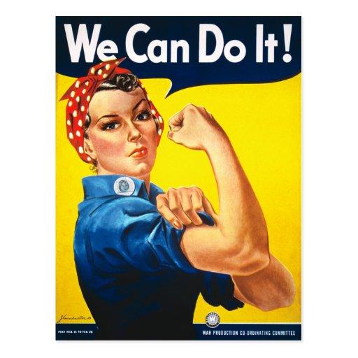 ¡Rosie el remachador, podemos hacerlo! Tarjeta Postal