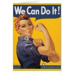 """Rosie el remachador """"podemos hacerlo """" tarjetón"""
