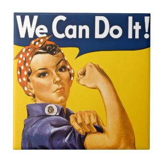 Rosie el remachador podemos hacerlo vintage azulejo cuadrado pequeño