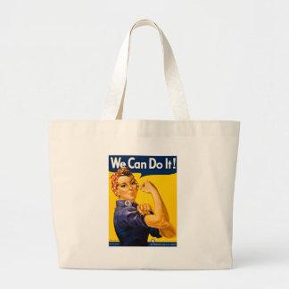 Rosie el remachador podemos hacerlo vintage bolsa de tela grande