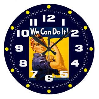 ¡Rosie el remachador podemos hacerlo! Vintage Reloj Redondo Grande