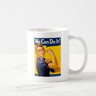 Rosie el remachador podemos hacerlo vintage taza de café