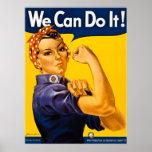 ¡Rosie el remachador podemos hacerlo!  Vintage WWI Posters